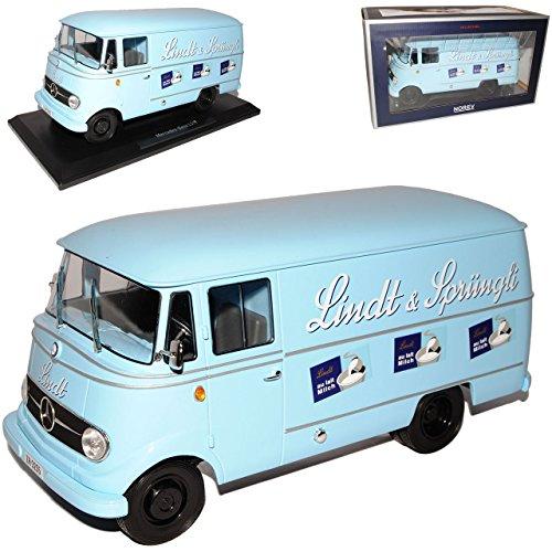 Preisvergleich Produktbild Mercedes-Benz L319 Transporter Blau Lindt und Sprüngli 1955-1968 1/18 Norev Modell Auto mit individiuellem Wunschkennzeichen