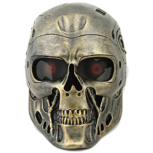 Tactical Airsoft Full Face Schädel Skeleton Maske Paintball -