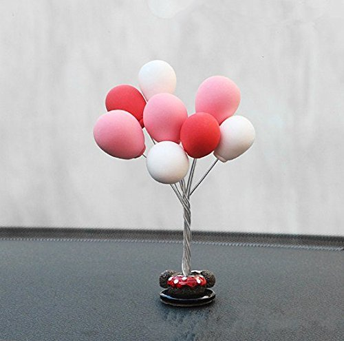 UChic 1 Stücke Nette Mini Ballon Armaturenbrett Dekorationen Schöne Puppen Home Office Ornamente Farbe Zufällig