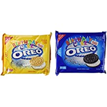 New Chocolate And Golden Birthday Cake Oreos - 15.25 OZ Packages