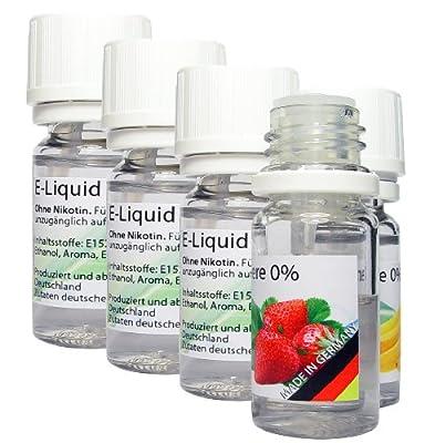5 x 50ml E-Liquid - MIX 1 - MADE in GERMANY - Apfel, Erdbeere, Kirsche, Vanille, Minze - 0,0mg Nikotin von ReiTrade