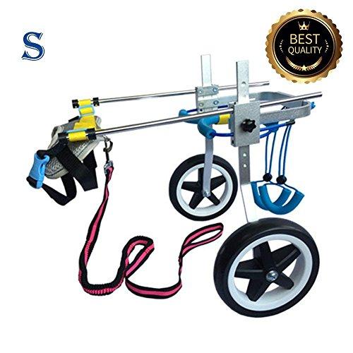 Ajustable para silla de ruedas para perro (S), peso 20A 40kg, patas traseras rehabilitación, luz peso