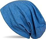 styleBREAKER Klassische Slouch Beanie Mütze, leicht, Unisex 04024018, Farbe:Blau meliert