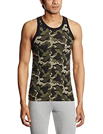 United Colors of Benetton Men's Cotton Vest (8903974471154_Green_X-Large)