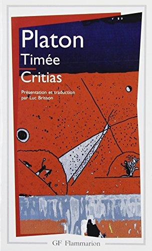 Timée, suivi du Critias