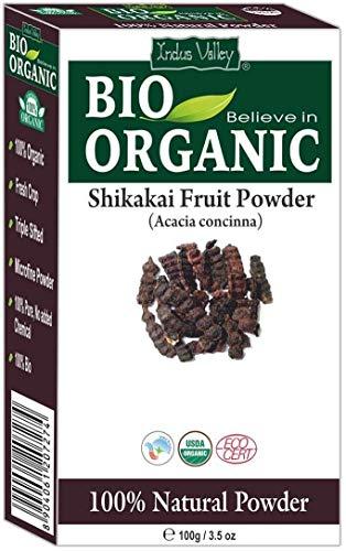 Polvere shikakai biologica pura certificata con libro di ricette gratuito da 100g (shikakai fruit powder)