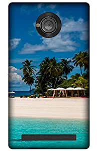 iessential beach Designer Printed Back Case Cover for YU Yuphoria YU5010A