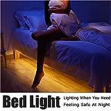 Bonlux Motion Activated Bed Night Light Strip 2M Warm White LED Sensor Beside Lamp 5V IP65 Waterproof LED Flexible Strip Kit (USB/Battery Operated)