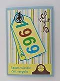 Kartenkunst 5x Fröhliche Einladungskarten zum 50. Geburtstag *1969*Handmade*