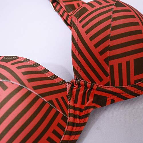 tengweng Damen Sexy Solid Neckholder Gepolstert Push Up Bikini Set Zweiteiliger Badeanzug Badeanzug Badeanzug - - X-Large - 5