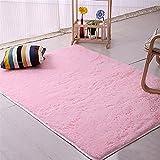 ALCYONEUS, tappeto morbido, rettangolare, antiscivolo. Adatto per il pavimento di camera da letto o soggiorno, Pink, 40*60cm