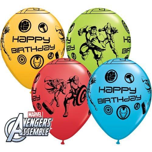 MARVEL'S AVENGERS ASSEMBLE 11 Happy Birthday Latex Balloons by Marvel