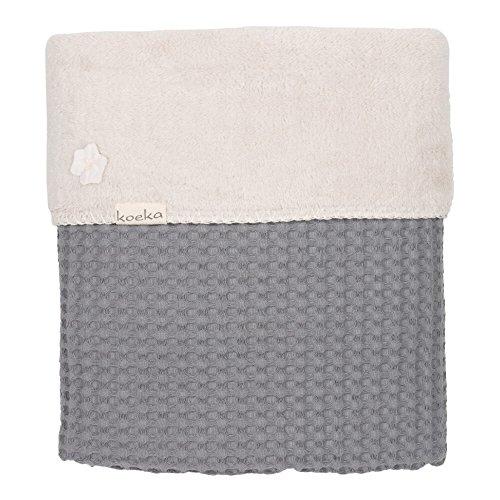 Preisvergleich Produktbild Koeka 1015/44-022 Decke Waffel/Plüsch 140x200 steel grey/pebble 615 230