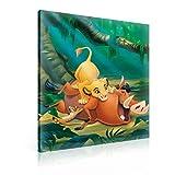 König Der Löwen Timon Pumbaa Leinwand Bilder (PPD2206O1FW) - Wallsticker Warehouse - Size O1 - 100cm x 75cm - 230g/m2 Canvas - 1 Piece