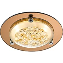 LED Deckenlampe 1 Flammig Flurlampe Kchenlampe 22 Cm Kristall Glas Deckenlicht Deckenleuchte Wohnzimmerlampe