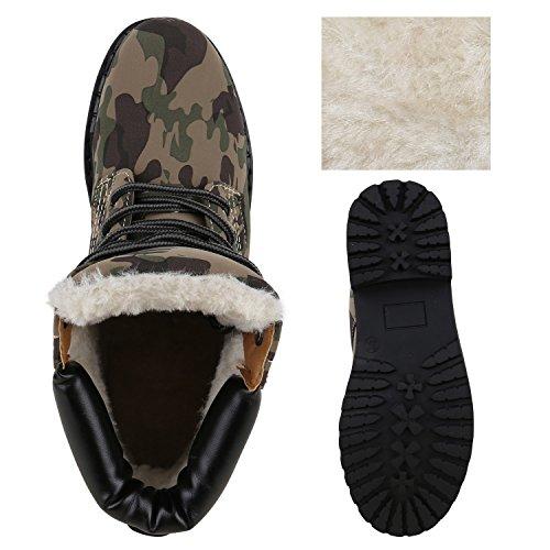 UNISEX Damen Herren Warm Gefütterte Damen Worker Boots Stiefeletten Outdoor Camouflage Schwarz