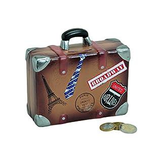 wunderschöne Urlaubskasse,Reisekasse Sparbüchse,Spardose Reisekoffer,Koffer mit Stickern