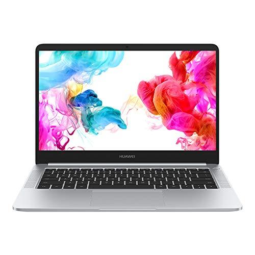 """Huawei Matebook D - Ordenador portátil ultrafino 14"""" FullHD (AMD Ryzen R5-2500, 8GB RAM, 256GB SSD, AMD Vega 8, Windows 10) Plata - Teclado QWERTY Español"""
