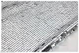 9mm Pailletten Stoff Material, 1Wege Stretch/130cm breit/12Farben (Meterware) silber