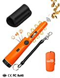 Metal Detector Lightweight Waterproof Easy Operate Pinpointer 360° Scan Buzzer Vibration Automatic Tuning Good Helper of Ground Metal Detector for Gold Coin Treasure Hunt Junior Beginner Adult Kids (Orange)