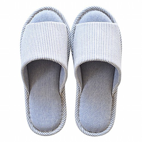 Primavera Y Otoño Tela De Algodón Four Seasons House Shoes Zapatillas Antideslizantes A Prueba De Agua Zapatillas De Zapatos, (39-40) B (43-44) C.