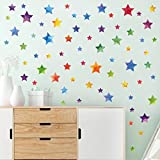 WandSticker4U- Wandtattoo 62 Sterne zum kleben