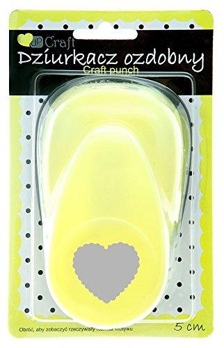 Dp Craft-Perforadora círculos 5cm concha corazón