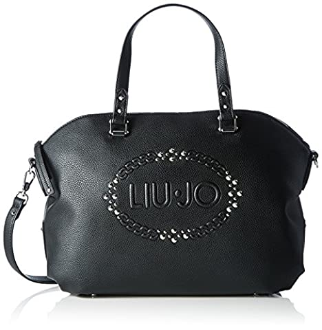Liu Jo Damen Lucciola Boston Bag Bowling Tasche, Schwarz (Black), 15 x 28 x 35 cm
