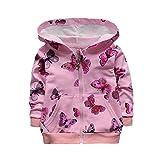 Kleider Kinderbekleidung Honestyi Infant Kleinkind Baby Mädchen Schmetterling Print Hoodie Tops Freizeitkleidung Mantel (Roas,L)
