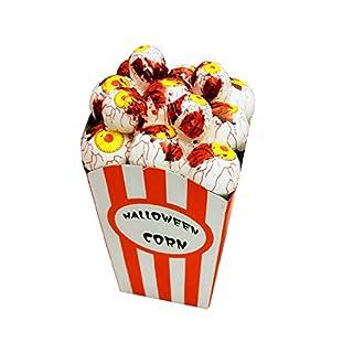 Schreckliche Geräte Horror Foam Popcorn Halloween Simulation Horror Maus Spinne Scary Party gruselig Dekor Schaum Popcorn (Farbe : Yellow eyeball)