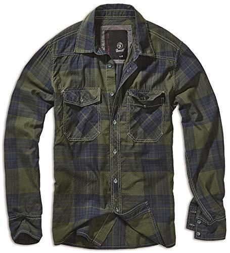 Brandit Check Shirt Olive-Blue 3XL