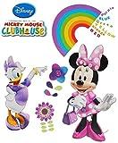 Unbekannt Wandtattoo / Sticker - Disney Minnie Mouse - Wandsticker Aufkleber Wandaufkleber für Mädchen / Kinder - Daisy Duck - Clubhouse