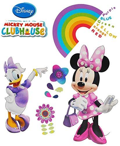 / Sticker - Disney Minnie Mouse - Wandsticker Aufkleber Wandaufkleber für Mädchen / Kinder - Daisy Duck - Clubhouse ()