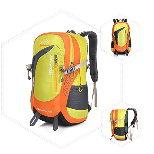 Die neuen Outdoor-Camping-Rucksack Bergsteigen Taschen Professionelle ultraleichte wasserdichte Tasche Reiten Orange