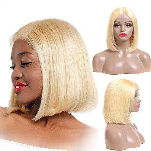 Lace Front Wig Human Hair - ORANGE STAR Brazilian hair 9a wig 13*4 lace frontal closure hair wig short 613 extensions echthaar perücke blond wig bob 10