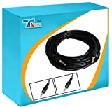 Audiokabel (25 m, vergoldet, 3,5 mm Klinke männlich auf Klinke männlich, geeignet für Computer / TV-Set / DVD-Player / CD-Player / Kopfhörer / Mikrofon / Lautsprecher und andere Geräte mit 3.5 mm Anschluss)