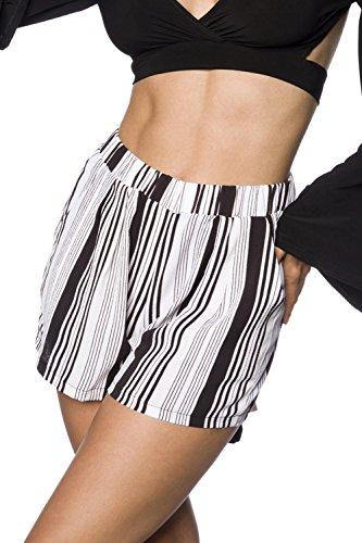 hipstylers Damen Shorts Weiß/Schwarz