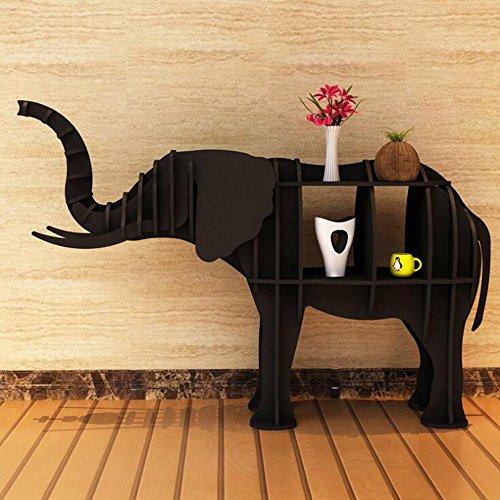ORPERSIST Regal Landung Lagerung Ornamente Holz Elefant Modellierung Bücherregal...