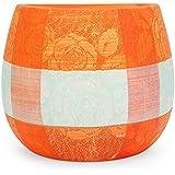 @home Ceramic Wall Planter (7.5 Cm X 14 Cm X 12 Cm, Orange)