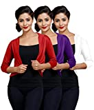 Goodtry Women's Shrug Pack of 3 Red, Whi...