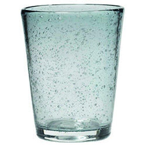 Trinkglas Lufteinschlüsse Bubble Glas Grauer Verlauf Ø 8cm H 10cm 20cl Handarbeit