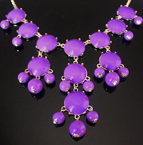 Macxy Big Bubble Ketten Fashion Statement Bib Blase Halskette Schmuck [lila] (Purple Halskette Bubble)
