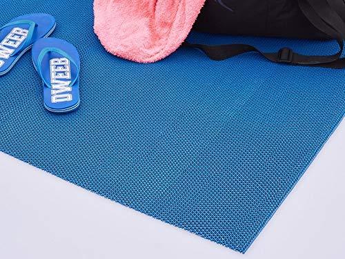 Plastic Dry Azzurro Tappeto per Piscina Palestra Docce Saune Barche Antiscivolo Lavabile al 100% Antibatterico 100x500 cm
