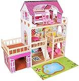 Dodo Toys EIN Großes Hölzernes Puppenhaus Mit Pool   Garage   Terrasse Und LED-Beleuchtung  