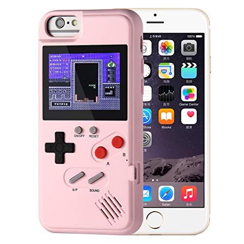 LayOPO Gameboy iPhone Case, iPhone Case Game Console mit 36 Kleinen Spielen, Color Screen, Retro 3D Gameboy Design für iPhone8,iPhone 7,iPhone 6