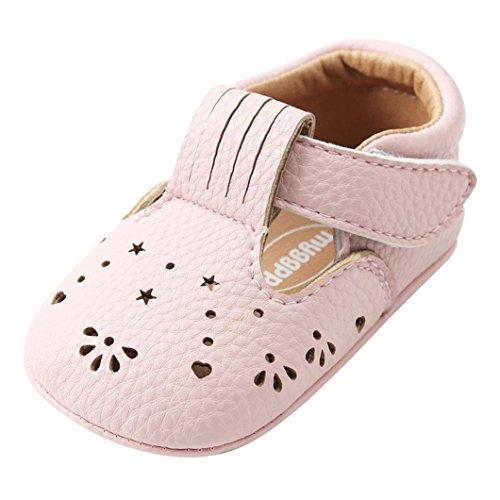 Kleinkind Schuhe, Sunday Baby Mädchen Prinzessin Leder Schuhe Aushöhlen Mode Kleinkind Erste Wanderer Kind Schuhe (12, Rosa)