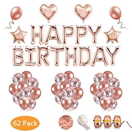 etti Luftballons, 12 Zoll Transparente Pailletten Latex Konfetti Ballons für Halloween, Weihnachten, Geburtstagsfeiern, Party, Hochzeitsfeiern und Festival Dekoration ()