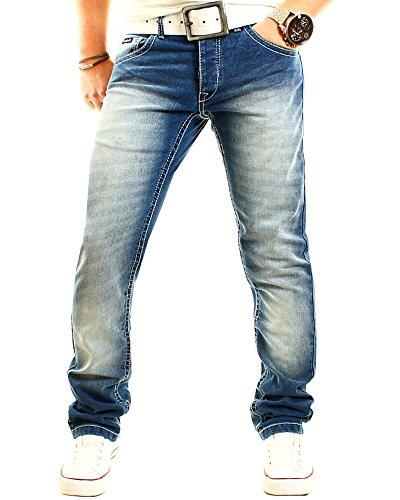 Früchtl Herren Jeans Hose Regular Fit stretch Blau