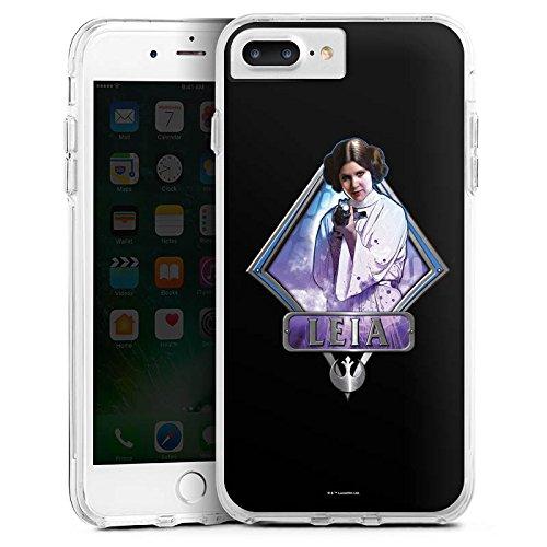 Apple iPhone 6 Plus Bumper Hülle Bumper Case Glitzer Hülle Star Wars Merchandise Fanartikel Merchandising Pour Supporters Bumper Case transparent