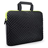 #9: Tizum Z17 13-inch to 14-inch Designer Ultra Slim Handle Sleeve Bag with Shock Proof Foam Protection for Laptops (Black)